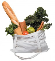 shopping-canvas bag w groceries