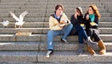 6598766-three-young-adults-sitting-on-concrete-stairs-eating-fish-and-chips-wilst-two-seagulls-steal-a-bit-o
