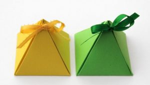 make a paper pyramid gift box