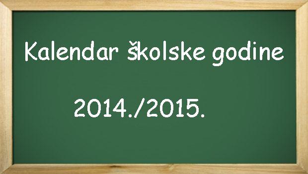 kalendar školske godine