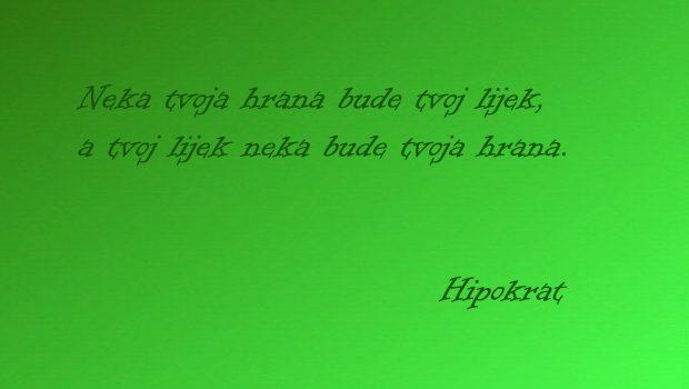 Hrana kao lijek - Hipokrat